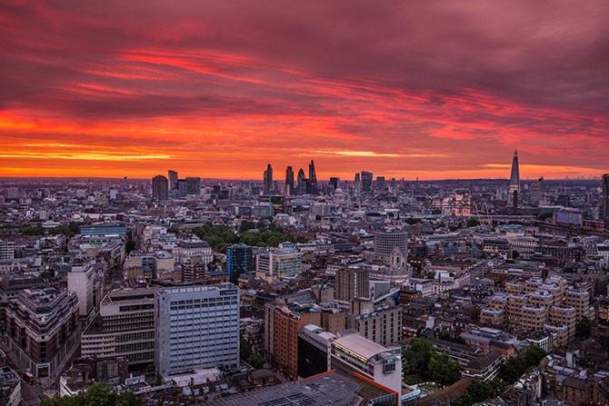 Лондон с высоты крыш (18 фото)