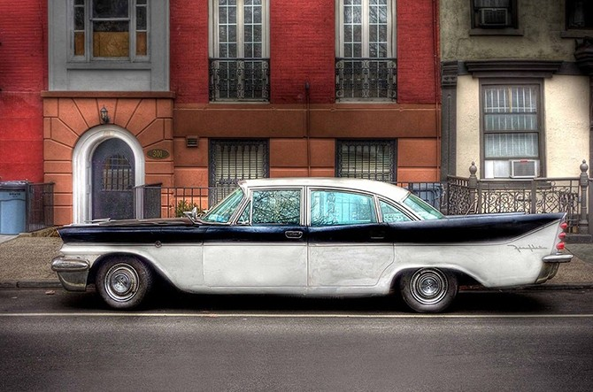 Ретро-автомобили Нью-Йорка (17 фото)