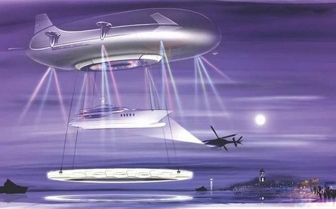 Роскошное воздушное судно будущего Halo с открытой террасой (3 фото)