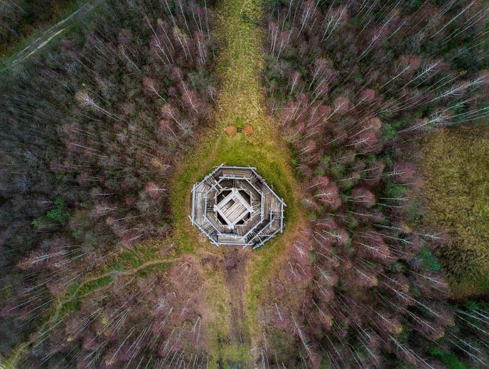 Арт-парк «Никола-Ленивец» с высоты птичьего полета (15 фото)