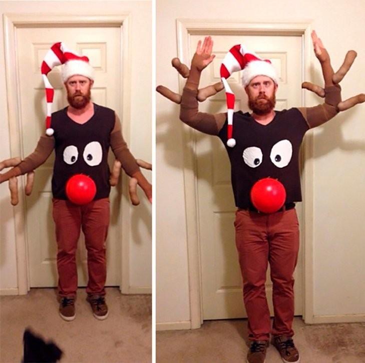 Забавные новогодние костюмы, в которых точно стоит встретить Новый год (21 фото)