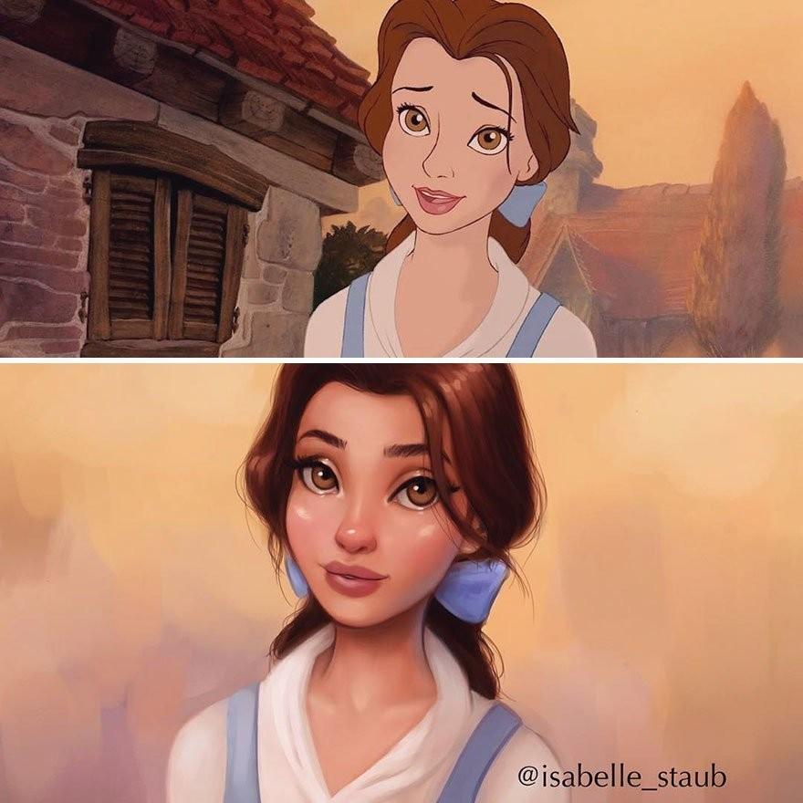 Новый взгляд: иллюстратор перерисовывает мультперсонажей в реалистичной манере (24 фото)