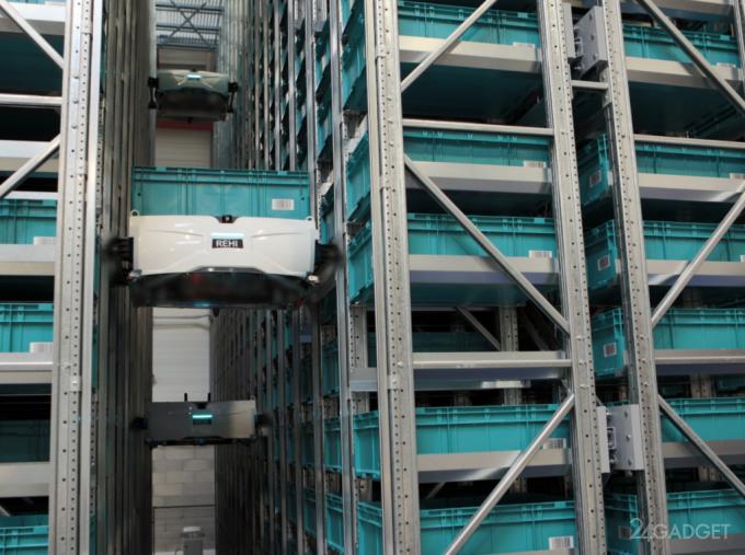 Skypod - робот, обученный лазать по стеллажам (5 фото + видео)