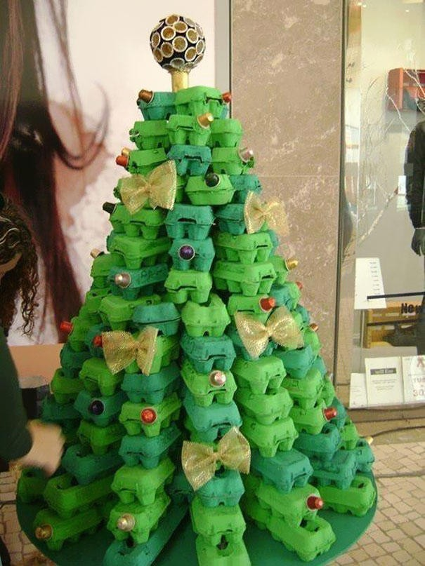 Простые идеи новогодней елки своими руками (20 фото)