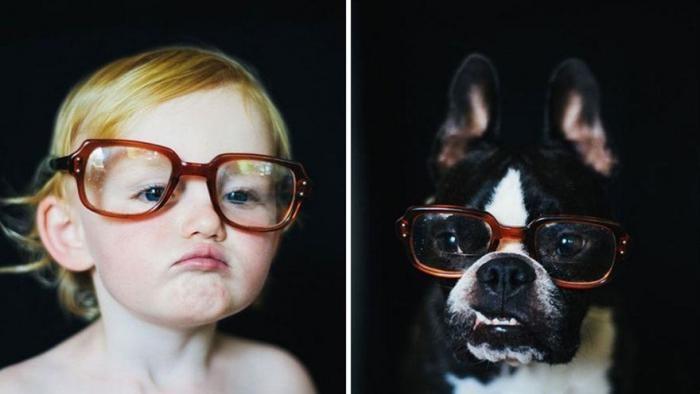 Счастливы вместе — фотоистория о взрослении девочки и щенка (10 фото)