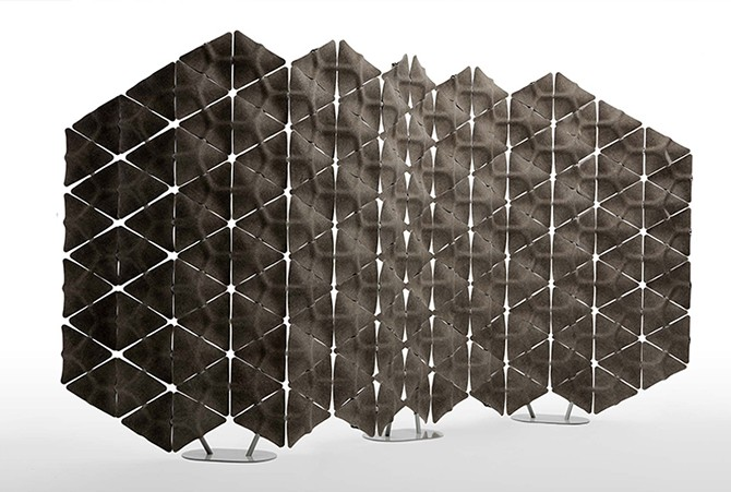 Дизайн звукопоглощающей стены Benjamin Hubertv (12 фото)
