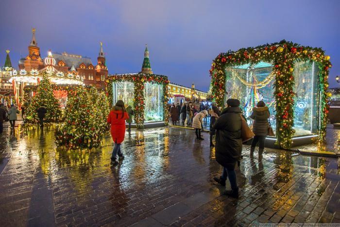 Новогодняя Москва 2018 (49 фото)