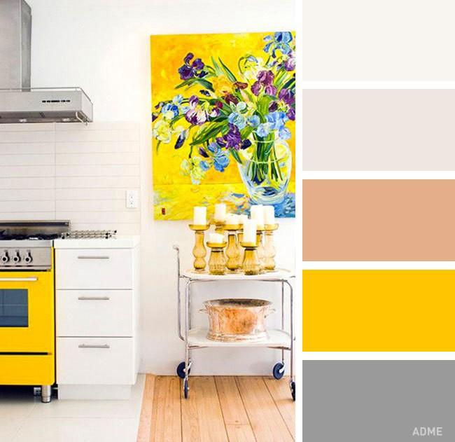 Идеальные сочетания цветов в интерьере кухни (20 фото)