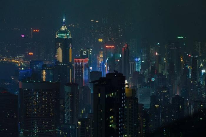 Огни ночного Гонконга (9 фото)