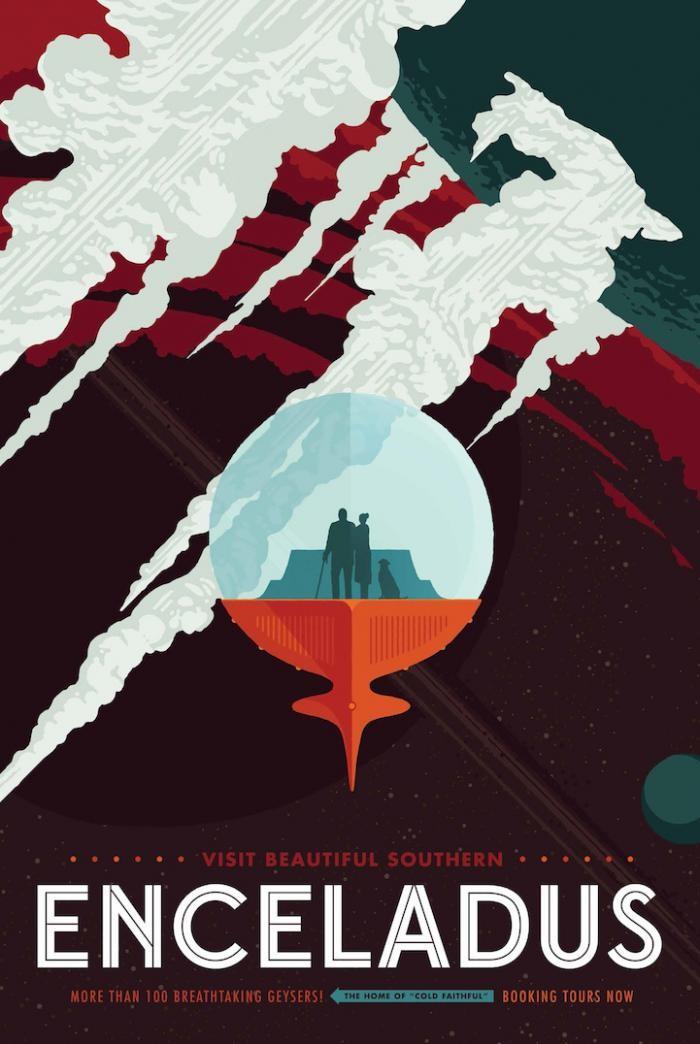 Ретро-плакаты о космических путешествиях (10 фото)