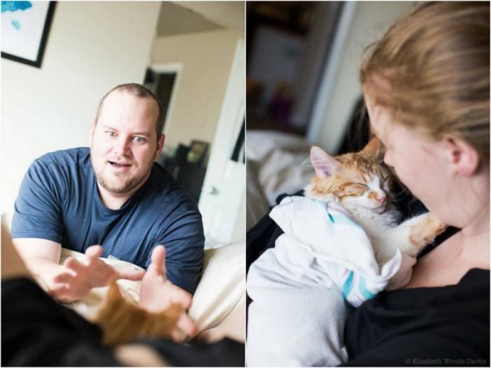 Шуточная фотосессия рождения кота (17 фото)