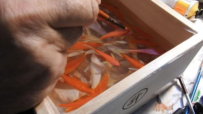 Невероятно объемные картины аквариумных рыбок (15 фото)