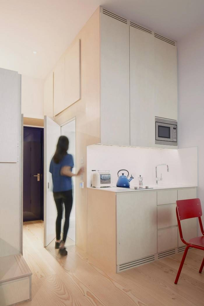 Внутри «микроквартиры будущего» площадью 19 кв. метров (7 фото)