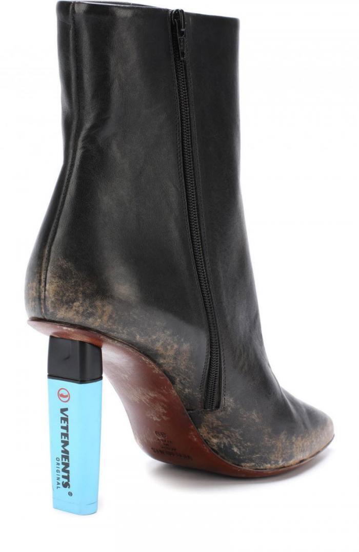 Женские ботильоны с эффектом грязной кожи продают за 48 тысяч (3 фото)