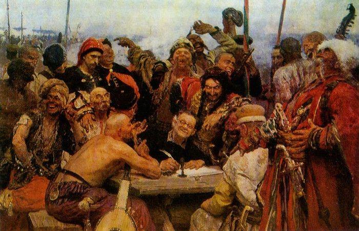 Интересный нюанс на картине Репина «Запорожцы» (4 фото)
