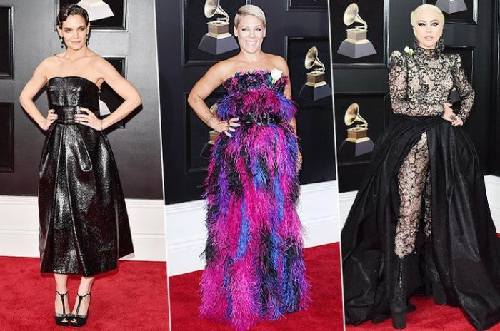 Наряды звезд на красной дорожке премии Grammy-2018 (24 фото)