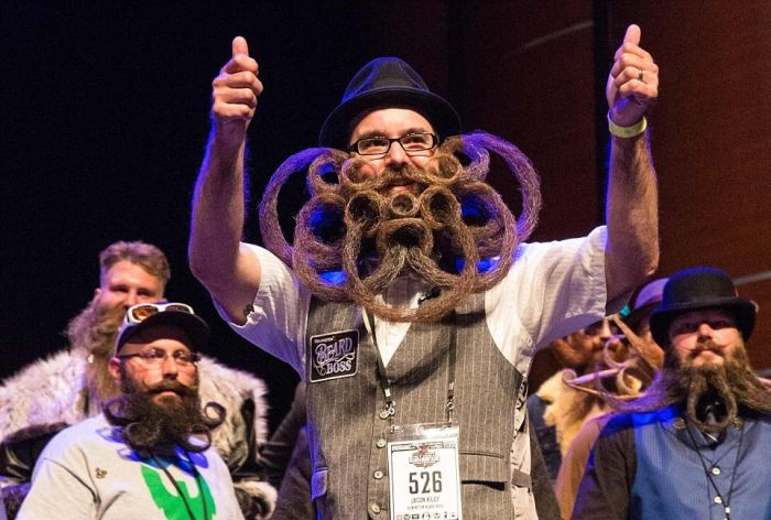 В Техасе выбрали носителя самой оригинальной бороды (19 фото)