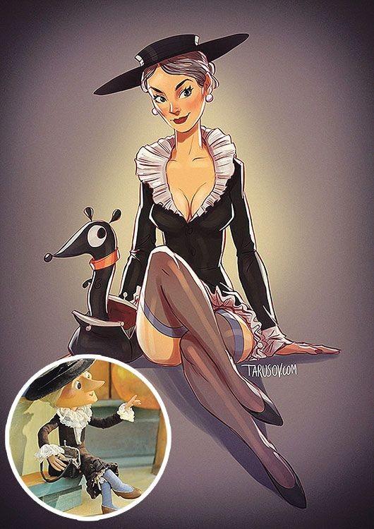 Героиням советских мультфильмов добавили немного сексуальности (6 фото)