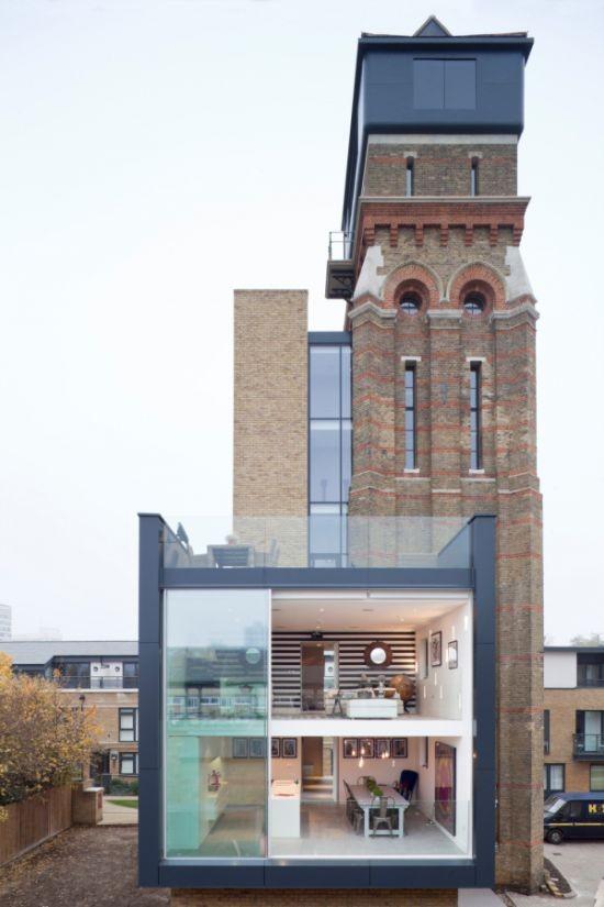 Уникальное превращение старой водонапорной башни в жилой дом (11 фото)