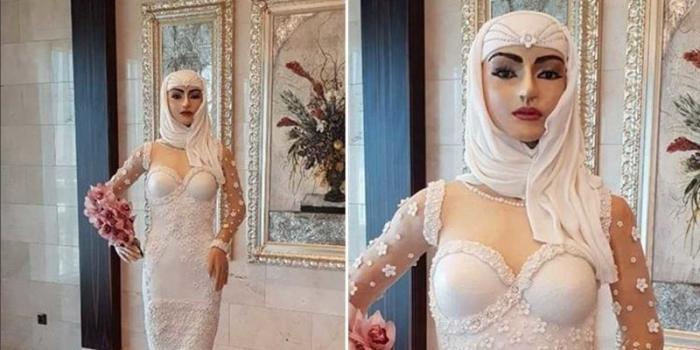 Торт в виде фигуры невесты стоимостью миллион долларов (5 фото)