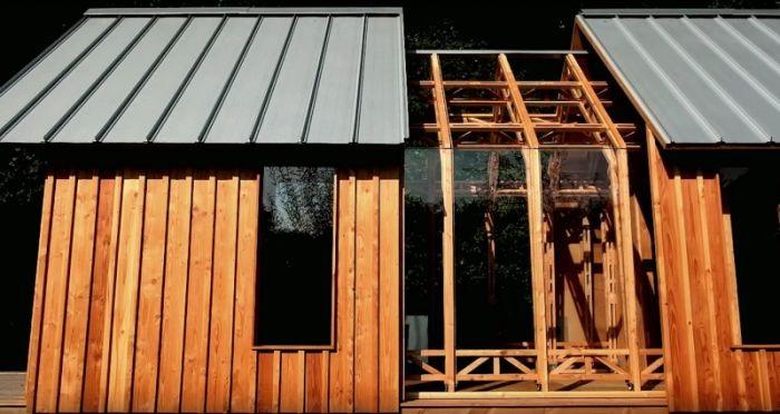 Уникальный дом для отдыха из старого сарая (8 фото)
