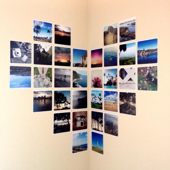 Простые дизайнерские идеи оформления стен (15 фото)