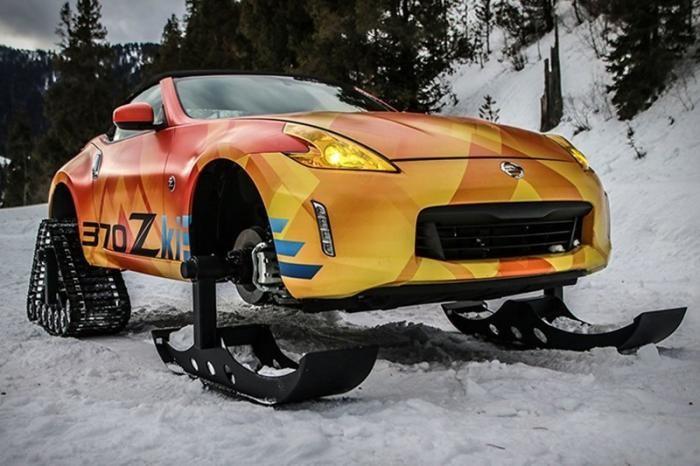 Двухдверка без колёс: родстер Nissan встал на лыжи (5 фото + видео)