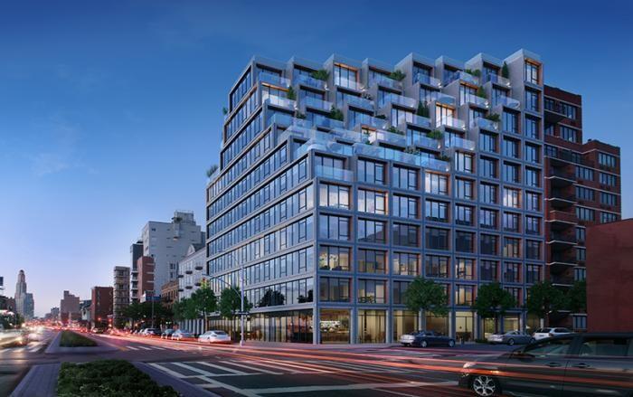 Элитный дом в Бруклине с каскадными этажами (7 фото)
