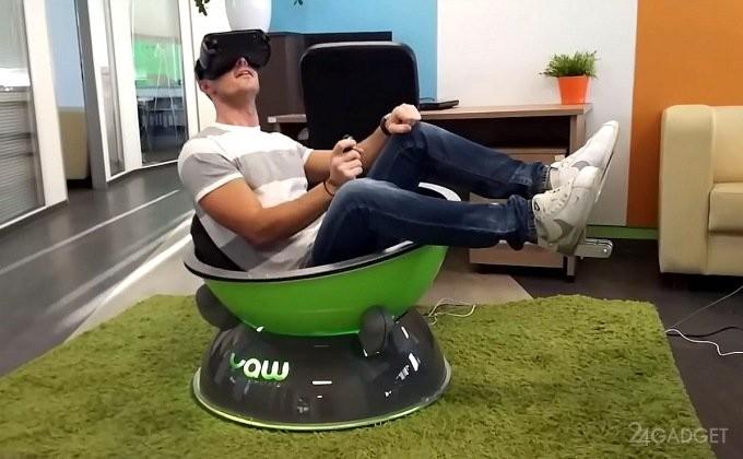 Кресло-симулятор для реалистичного VR-погружения (8 фото + видео)