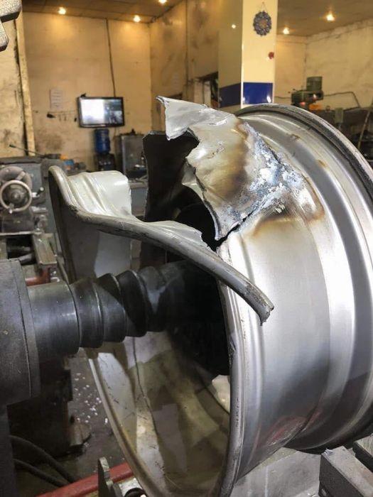 Литые диски до и после ремонта (7 фото)