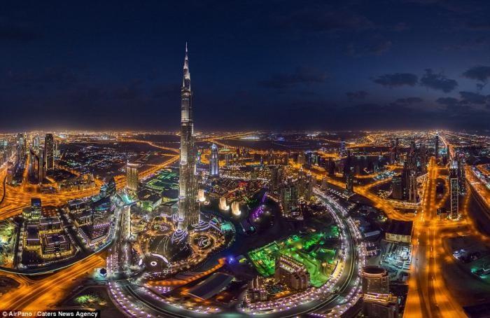 Панорамные ночные фотографии крупных мегаполисов (17 фото)