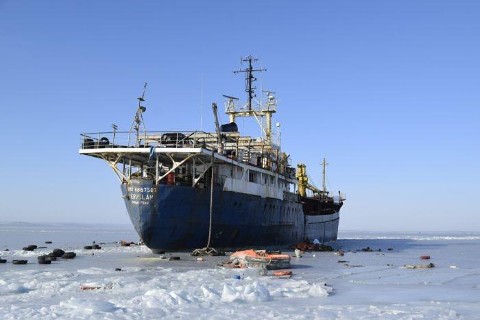 Брошенное судно в Амурском заливе (7 фото)