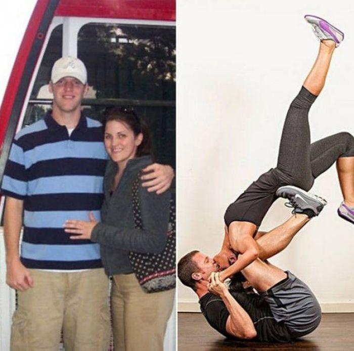 Пары, которые вдохновили друг друга стать лучше (15 фото)