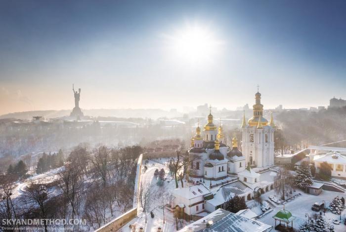 Зимний Киев с высоты (15 фото)
