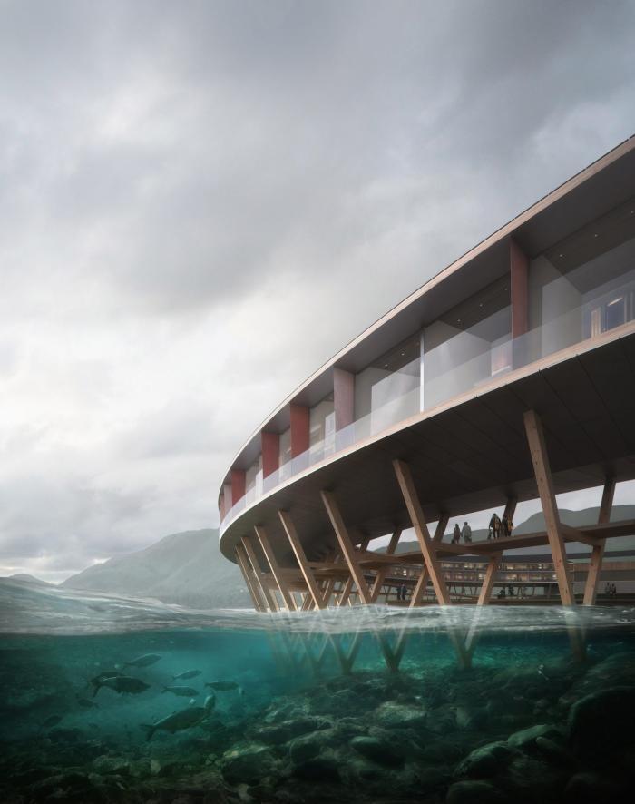 Проект необычного отеля на солнечных батареях в Норвегии (8 фото)