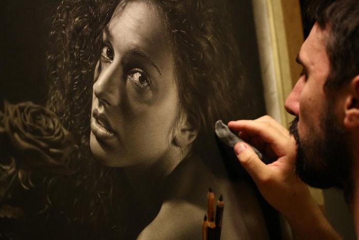 Портреты карандашом в стиле мастеров Ренессанса (10 фото)