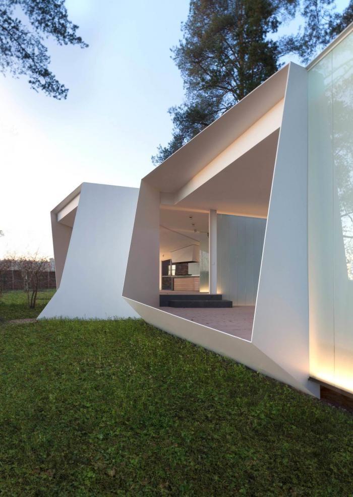 Архитектура современного павильона в Подмосковье (15 фото)
