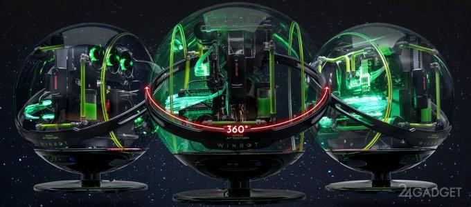 WinBot — сферический корпус для ПК с системой распознания лиц (15 фото)