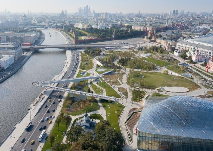 Прогулка по московскому парку «Зарядье» (20 фото)