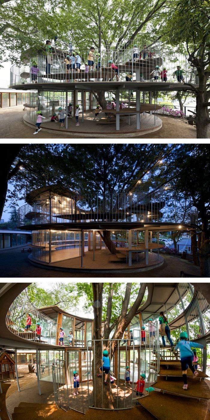 Деревья, ставшие неотъемлемой частью зданий (28 фото)