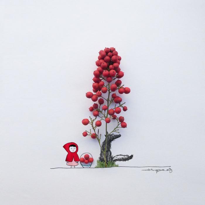 Удивительные цветочные фантазии испанского художника (22 фото)