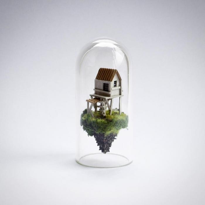 Парящие миры в пробирке от голландской художницы (10 фото)