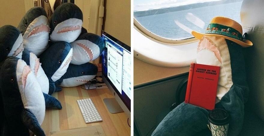 Плюшевые акулы из Икеи заполонили интернет (18 фото)