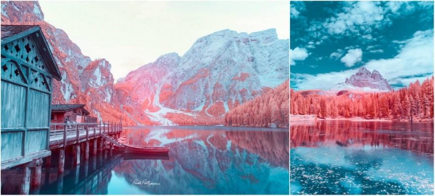 Доломитовые Альпы в инфракрасном цвете на снимках Паоло Петтигиани (7 фото)
