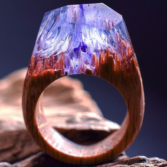 Изысканные кольца из дерева (14 фото)