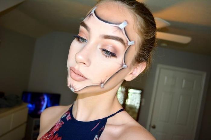Искусство грима и макияжа (13 фото)