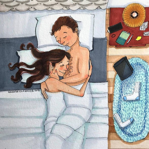 Отношения и супружеская жизнь в рисунках Аманды Олеандер (39 фото)