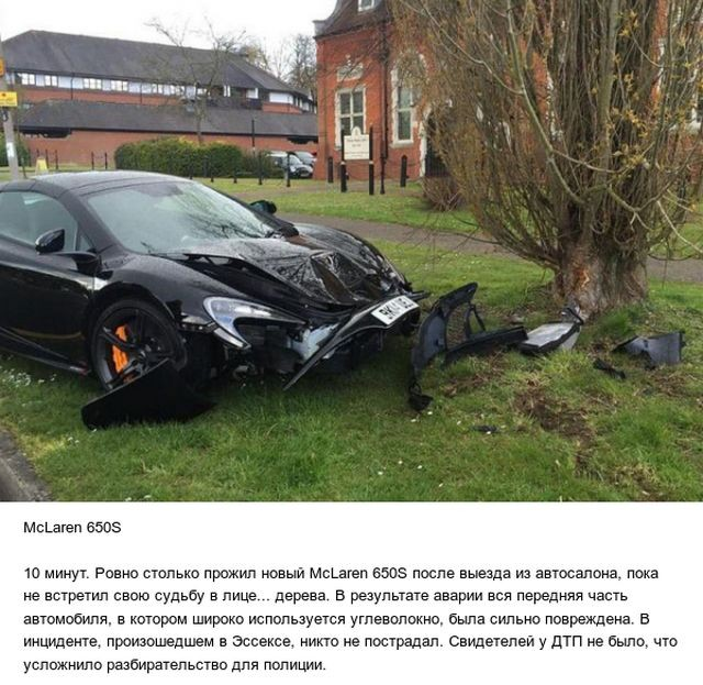Автомобили, попавшие в ДТП, едва выехав из автосалона (8 фото)