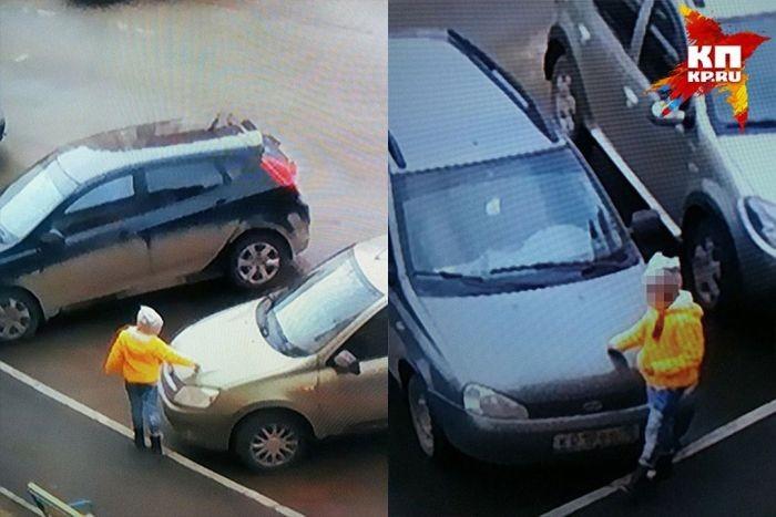 10-летняя девочка поцарапала 6 автомобилей (3 фото)