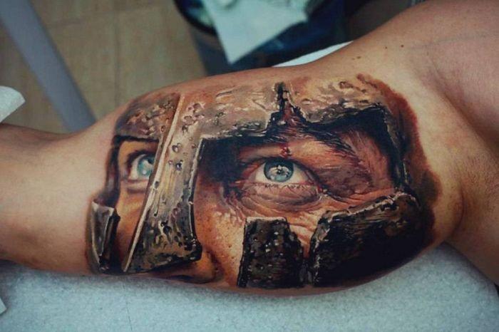 Реалистичные 3D татуировки (34 фото)